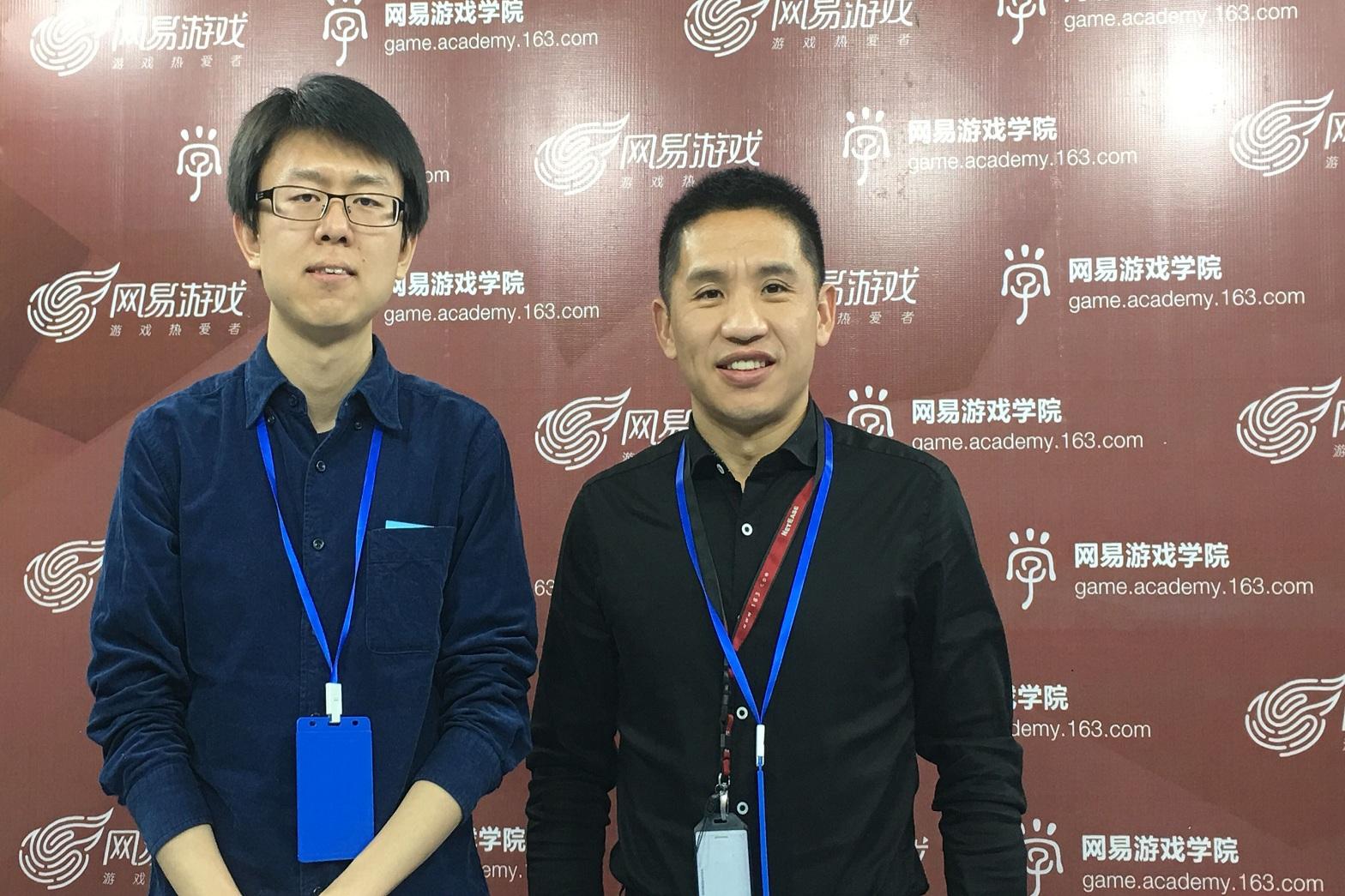 网易游戏学院院长文富俊接受媒体朋友的采访